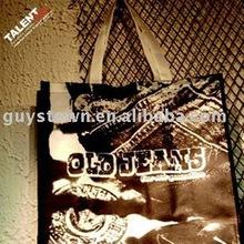 custom Glossy lamination non-woven cloth shopping bag with company logo