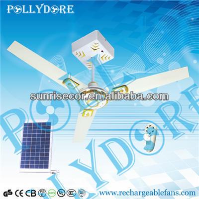 """36""""-64"""" Solar Ceiling Fan w/ Remote&Light,AC & DC Fan"""