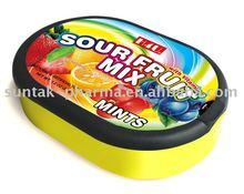 Confectionery Sour Fruit Mix Mint Candy