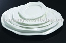 top quality porcelain in blue white color crockery plate