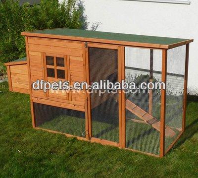 Casa de galinha de madeira com braço de Metal