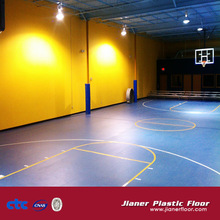 International standard wood pattern PVC Flooring basketball court