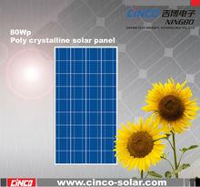 80W poly crystalline solar panel, PV solar module