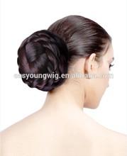 Braids hair chignon, bun hairpiece, wigs hair chignon