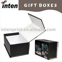 magnetic hair straighter die cut cardboard gift box