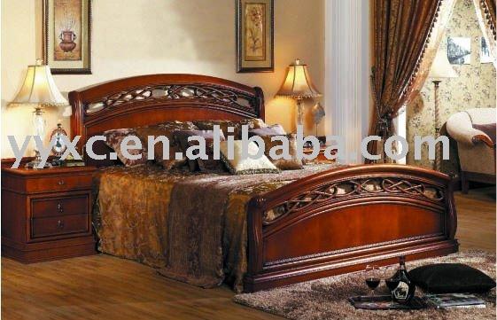 De lujo del dise o cl sico de madera cama de conjunto de for Despachos lujosos