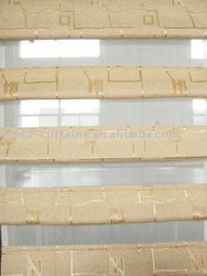 Double layer roman shades