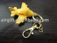 DHL plane keychain! Metal material plane model