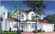 prefabricated steel structure garden villa Building for sale with garage