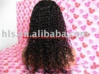 Stock Brazilian hair wigs,18'',natural color,water wave