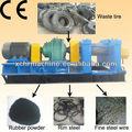 De alta tecnologia venda quente do pneu de borracha máquina de reciclagem / de corte de pneu ou esmagamento da máquina