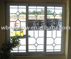 Grilles design pvc window,pvc window systems