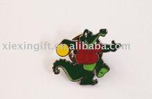 monkey metal pin badge