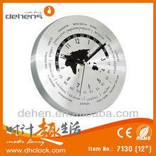 Aluminium World Time Clock