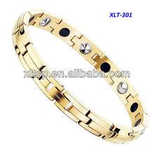 XLT-301 HOTTEST 22K Gold Bracelet in Pure Titanium
