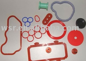 colorful custom molded silicone rubber component/rubber product