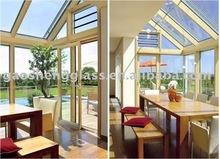 balcón de vidrio con aislamiento de vidrio templado de vidrio de color