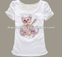fashion lady's short sleeve t-shirt for 2012 summer