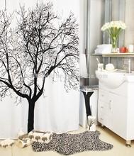 Bathroom waterproof polyester Tree print shower curtain