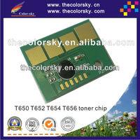 (TY-LT650-25k) toner cartridge reset chip for Lexmark T650 650 T652 652 T654 654 T656 656 bk (25k pages)