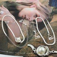 BB172-045 Fashion Decorative Metal Chain Cheap Pearl Bra Strap