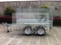 Haokai 8x5 Tandem/Dual-Axle Cage Trailer B85TC
