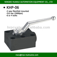 high pressure 2 way manifold mounted ball valves