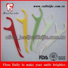 Colorful Plastic UHMWPE Dental Floss Picks/Floss Toothpicks