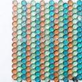 Gr01 kristal yuvarlak cam mozaik çini yüzme havuzu, geri dönüşümlü cam karo