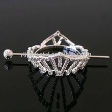 Bridal wedding tiaras crowns with hair stick cheap rhinestone pageant crown