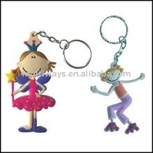 dancing figure plastic keychains MW-KC089