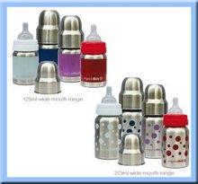 BPA FREE baby stainless steel milk bottle