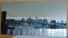 printed dibond aluminium metallic canvas board art