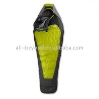 Green color travel promotional warm mummy sleeping bag (RSC-9041)