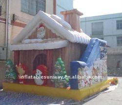 Christmas inflatable slide
