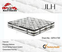2014 queen pocket coil mattress king size mattress box spring 32PA-F30