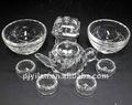 الفضة الكريستال سليمة مجموعة ابريق الشاي الفنية الصينية