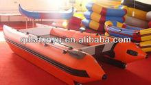 2013 hot!!!(CE)PVC material 14ft 6 passengers folding inflatable catamaran for sale