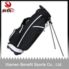 Polyester golf stand bag with integrated top handle