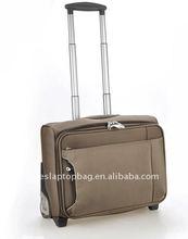 16 inch brown 1680D nylon newest travel trolley luggage bag caddi trolley bag polo