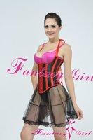 Red sexy corset mesh lady underwear corset dress sexy women photo corset