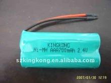 NH-AAA rechargeable battery packs 2NH-AA700MAH