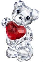 pretty animated crystal bear figurine christmas gift
