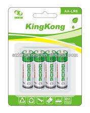 Alkaline AA/AM1 size battery