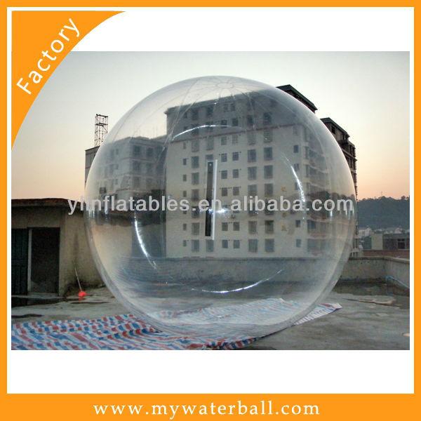 2015 hot sale 0.8mmpvc TI zipper Transparent inflatable auqa bubble
