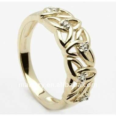 Jaune plaqué or bijoux bague de mariage celtique
