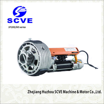 SCVE central motor for roller shutter garage door opener with electromagnetic brake