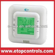 Temperature control room thermostat with modbus terminal