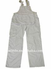 painter's white coverall uniform bib overalls
