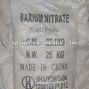 Bon produit utilisé dans le feu de travail, nitrate de baryum